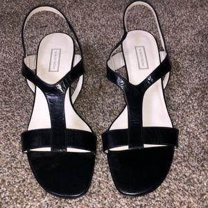 Nordstrom brand leather heels sandals 9.5 M NWOT